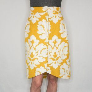 MARTA FERRI Cotton Yellow Knee-Length Skirt